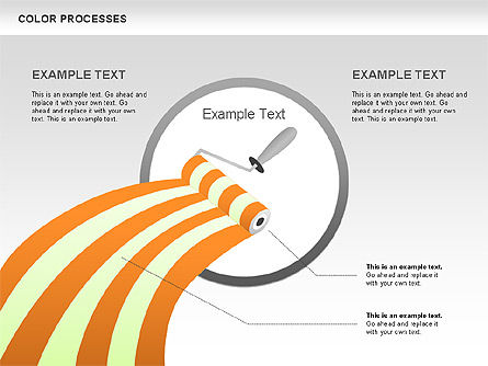 Color Process Diagram, Slide 9, 00540, Process Diagrams — PoweredTemplate.com