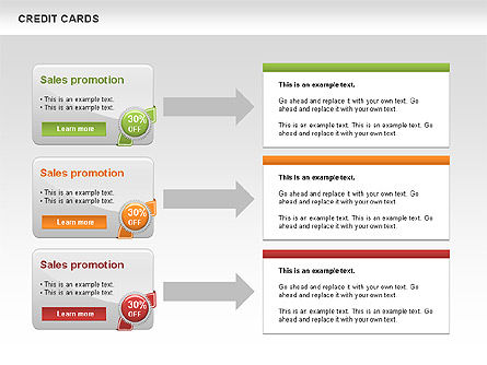Credit Cards Toolbox, Slide 2, 00543, Pie Charts — PoweredTemplate.com