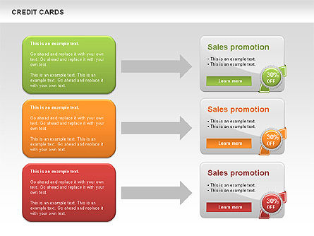 Credit Cards Toolbox, Slide 4, 00543, Pie Charts — PoweredTemplate.com