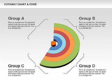 Cutaway Charts with Core Toolbox, Slide 2, 00545, Pie Charts — PoweredTemplate.com