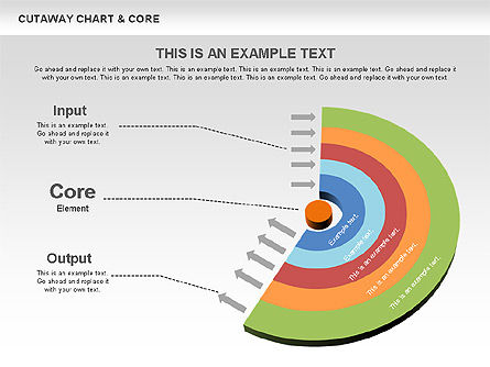 Cutaway Charts with Core Toolbox, Slide 3, 00545, Pie Charts — PoweredTemplate.com