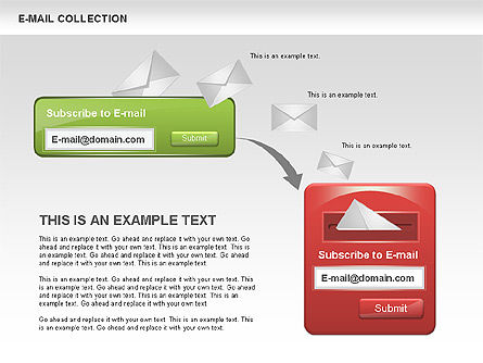 E-Mail Shapes Collection, Slide 4, 00547, Shapes — PoweredTemplate.com