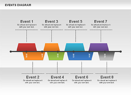 Timelines & Calendars: Events Diagram #00548