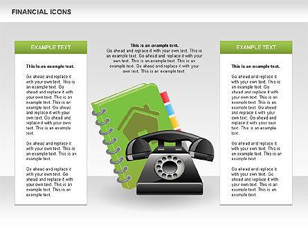 Financial Icons and Shapes, Slide 10, 00549, Icons — PoweredTemplate.com
