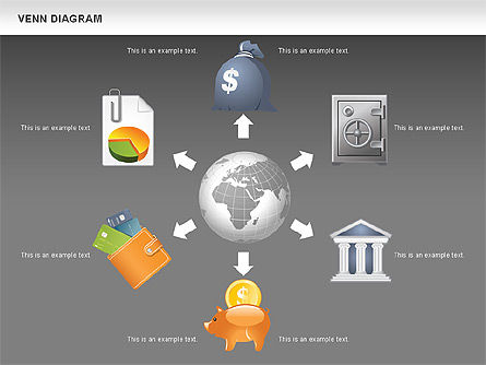Financial Icons and Shapes, Slide 12, 00549, Icons — PoweredTemplate.com