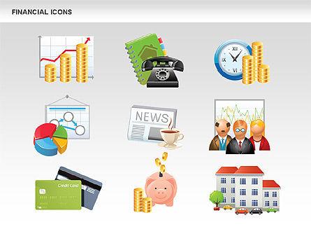 Financial Icons and Shapes, Slide 15, 00549, Icons — PoweredTemplate.com