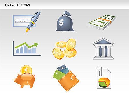 Financial Icons and Shapes, Slide 16, 00549, Icons — PoweredTemplate.com