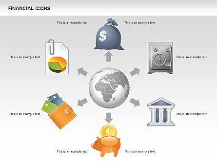 Financial Icons and Shapes, Slide 2, 00549, Icons — PoweredTemplate.com