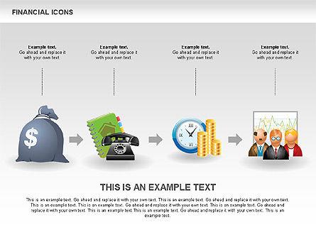 Financial Icons and Shapes, Slide 3, 00549, Icons — PoweredTemplate.com