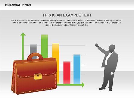 Financial Icons and Shapes, Slide 4, 00549, Icons — PoweredTemplate.com