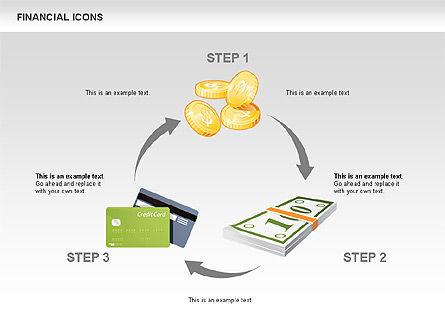 Financial Icons and Shapes, Slide 5, 00549, Icons — PoweredTemplate.com