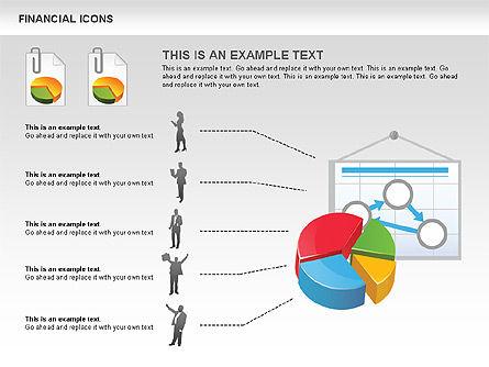 Financial Icons and Shapes, Slide 6, 00549, Icons — PoweredTemplate.com