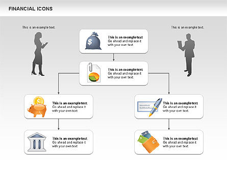 Financial Icons and Shapes, Slide 7, 00549, Icons — PoweredTemplate.com