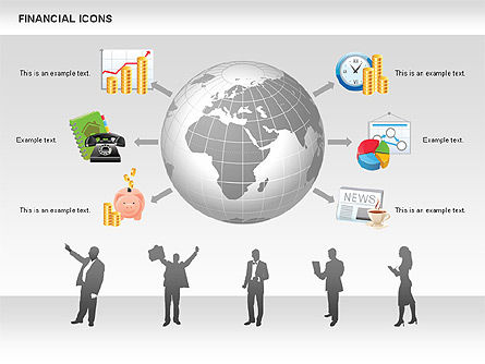 Financial Icons and Shapes, Slide 9, 00549, Icons — PoweredTemplate.com