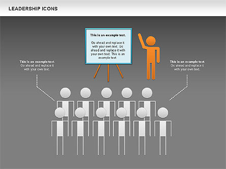 Leadership Icons, Slide 14, 00553, Business Models — PoweredTemplate.com