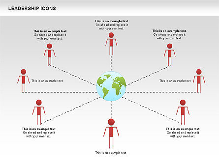 Leadership Icons, Slide 2, 00553, Business Models — PoweredTemplate.com