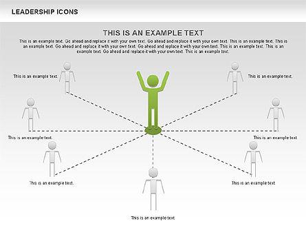 Leadership Icons, Slide 3, 00553, Business Models — PoweredTemplate.com