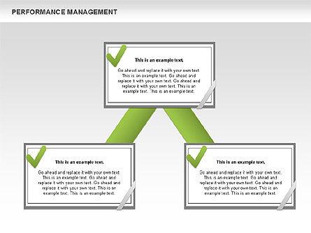 Performance Management Diagrams with Checks, Slide 11, 00554, Business Models — PoweredTemplate.com