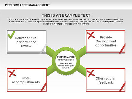 Performance Management Diagrams with Checks, Slide 2, 00554, Business Models — PoweredTemplate.com
