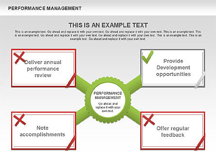 Performance Management Diagrams with Checks, Slide 3, 00554, Business Models — PoweredTemplate.com