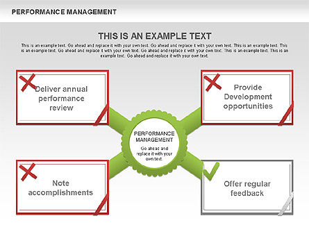 Performance Management Diagrams with Checks, Slide 4, 00554, Business Models — PoweredTemplate.com
