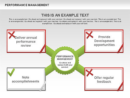 Performance Management Diagrams with Checks, Slide 5, 00554, Business Models — PoweredTemplate.com