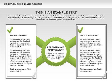 Performance Management Diagrams with Checks, Slide 9, 00554, Business Models — PoweredTemplate.com