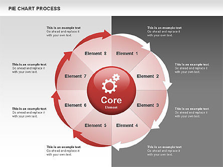 Pie Chart Process, 00555, Process Diagrams — PoweredTemplate.com