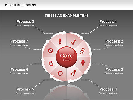Pie Chart Process, Slide 10, 00555, Process Diagrams — PoweredTemplate.com