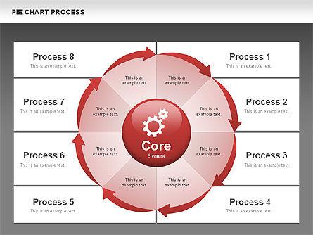 Pie Chart Process, Slide 11, 00555, Process Diagrams — PoweredTemplate.com