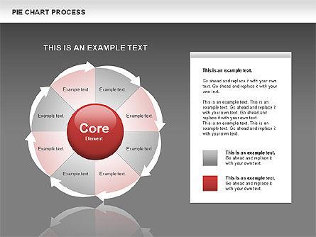 Pie Chart Process, Slide 12, 00555, Process Diagrams — PoweredTemplate.com