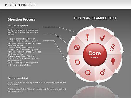 Pie Chart Process, Slide 13, 00555, Process Diagrams — PoweredTemplate.com