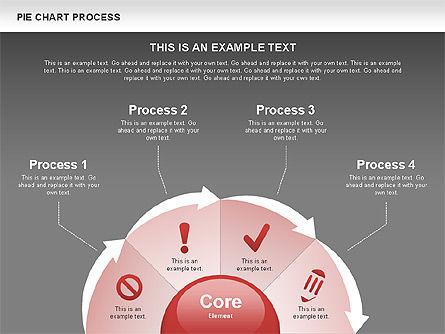 Pie Chart Process, Slide 14, 00555, Process Diagrams — PoweredTemplate.com