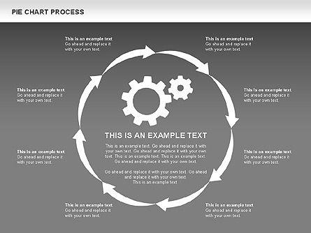 Pie Chart Process, Slide 15, 00555, Process Diagrams — PoweredTemplate.com