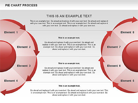 Pie Chart Process, Slide 2, 00555, Process Diagrams — PoweredTemplate.com