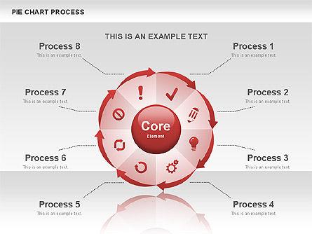 Pie Chart Process, Slide 3, 00555, Process Diagrams — PoweredTemplate.com