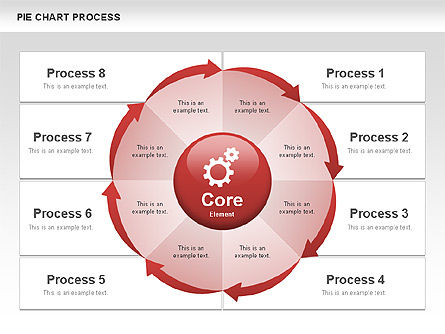 Pie Chart Process, Slide 4, 00555, Process Diagrams — PoweredTemplate.com