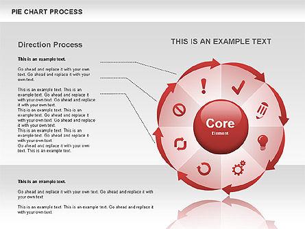 Pie Chart Process, Slide 6, 00555, Process Diagrams — PoweredTemplate.com