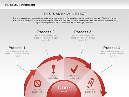 Pie Chart Process, Slide 7, 00555, Process Diagrams — PoweredTemplate.com