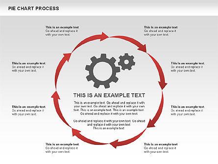 Pie Chart Process, Slide 8, 00555, Process Diagrams — PoweredTemplate.com