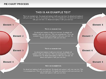 Pie Chart Process, Slide 9, 00555, Process Diagrams — PoweredTemplate.com