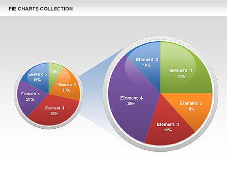 Pie Chart Collection, Slide 10, 00556, Pie Charts — PoweredTemplate.com