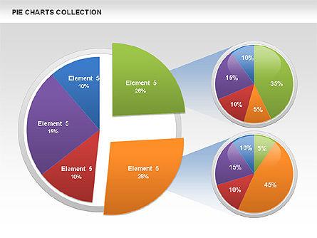 Pie Chart Collection, Slide 11, 00556, Pie Charts — PoweredTemplate.com