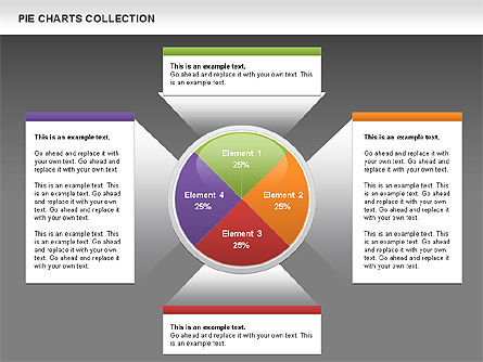 Pie Chart Collection, Slide 13, 00556, Pie Charts — PoweredTemplate.com