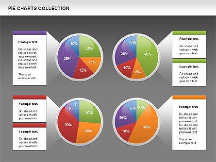 Pie Chart Collection, Slide 14, 00556, Pie Charts — PoweredTemplate.com