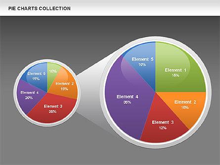 Pie Chart Collection, Slide 15, 00556, Pie Charts — PoweredTemplate.com