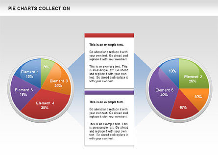 Pie Chart Collection, Slide 3, 00556, Pie Charts — PoweredTemplate.com
