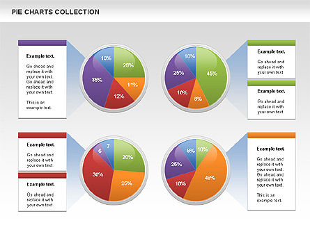 Pie Chart Collection, Slide 4, 00556, Pie Charts — PoweredTemplate.com
