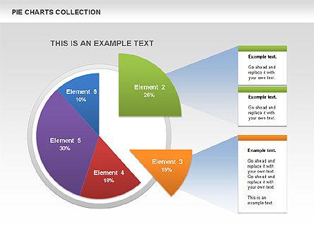 Pie Chart Collection, Slide 5, 00556, Pie Charts — PoweredTemplate.com