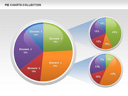 Pie Chart Collection, Slide 6, 00556, Pie Charts — PoweredTemplate.com